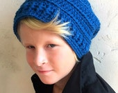 Men's Slouchy Hat Crochet Pattern, Boy's Crochet Hat Pattern, CROCHET PATTERN, Crochet Hat Pattern, Men's Hat Pattern, Men's Beanie Pattern