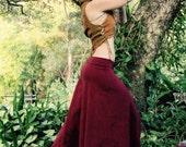 RESERVED Size M/L Hemp Lycra Hand dyed Mandala Printed Poppy Skirt