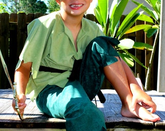 Peter pan or Robin hood  Children s Costume for Kids sizes from toddler through 8 years old