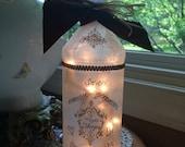 Wine Bottle Lamp,family,sister gift,wine bottle light,wine bottle lights,lighted bottles,lighted wine bottle,wine bottle decor,lamp,lamps