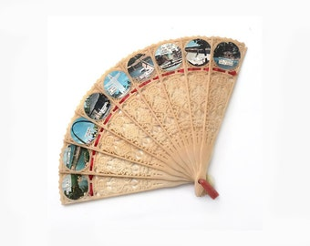 Souvenir Folding Fan, Arkansas and Missouri