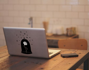 Beauty and the Beast Rose Macbook Sticker