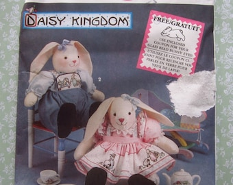 Sitting Bunny Doll and Clothes by Daisy Kingdom UNCUT Simplicity Crafts Pattern 7718 Vintage 1990s