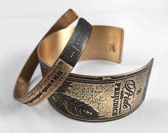 Pride and Prejudice, Bright 2-Piece Book Bracelet Set   Jane Austen, Gold Bracelet, Authors Book Jewelry Movie Literary Bookworm gift