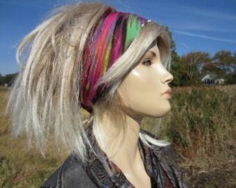 Bohemian Headband Turban Hair Wrap Wide Printed Knit BOHO Gypsy Hair Band Aurora Print A1449