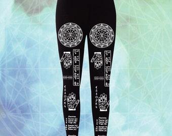 Astrology Printed Black Leggings