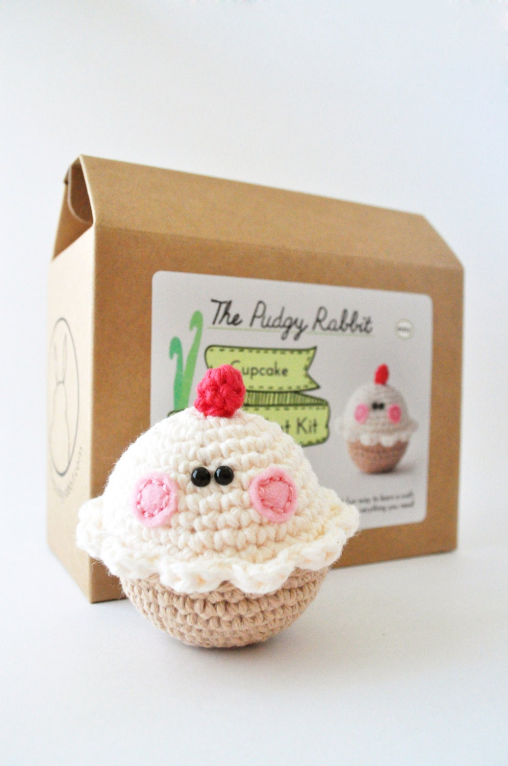 Crochet Cupcake Kit Amigurumi Kit DIY Craft Learn to