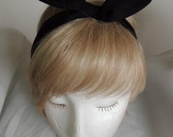 Black Wire Headband, Black Bandana, Twist Head Scarf, Pointed Ends Head Band, Bunny Rabbit Ears, Hat Band, Head Wrap, Hair Tie, Hair Band
