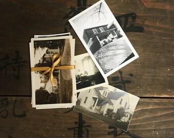 "22 pc - Vintage Photos ""Haunted House Collection"" Old Photo Antique Black & White Photography Paper Ephemera - 091016"