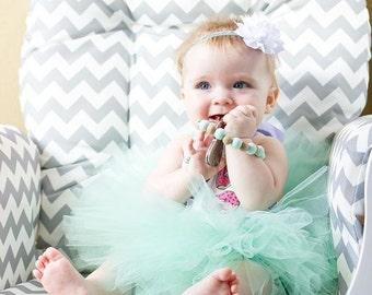 Mint Baby Tutu and Flower Headband Set - Baby Tutu - Tutu - Mint Tutu - Smash Cake Tutu - Birthday Tutu - Toddler Tutu - Newborn Tutu - Tutu