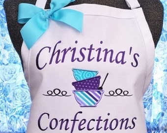 Personalized Apron Cooking Apron Bakery Apron Mixing Bowls