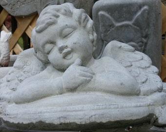 Concrete RESTING ANGEL Statue