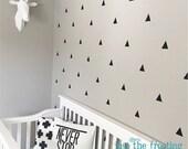 Triangle Wall Decal Set Nursery Decor - Triangle Decor Decals - Modern Monochrome Nursery Decor Triangle Vinyl Decal - Triangle Wall Sticker