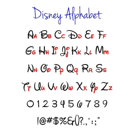 Disney alphabet disney svg disney svg alphabet vector - Lettre disney ...