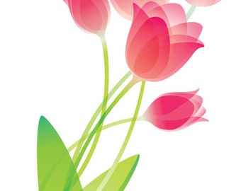 Tulip Wall Decal, Floral Wall Decal, Flower Decal, Vinyl Wall Decal, Home Decor, Girl's Bedroom Decal, Tulips, Infinite Graphics,
