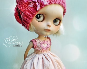 BLYTHE Hat SWEET VALENTINE By Odd Princess Atelier, Shabby Chic, Hand Made, New Collection, Special Outfit