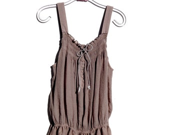 S.A.L.E......Sweet Lace Trim Babydoll  Bohemian Camisole Cottage Chic Top