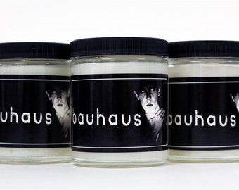 Goth Candle - Dark Entries - Cedar - Scented Candle - Bauhaus