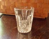 Crystal Shot Glass, American Brilliance Era Single Shot Glass, Hand Cut Crystal, Hobstar Pinwheel Pattern