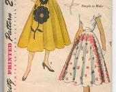 """1950's Simplicity Full Skirt Pattern - UC/FF - Waist 28"""" - No. 3560"""