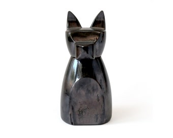 Large Anbuis Dog Urn -  Black Copper