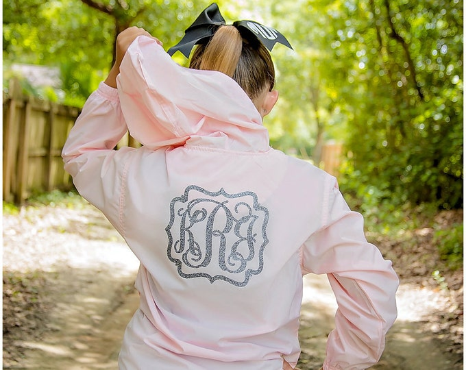 Charles River Rain Jacket, Monogrammed Pullover Rain Jacket,  Charles River Pack N Go Pullover, Women's and Girls Sizes