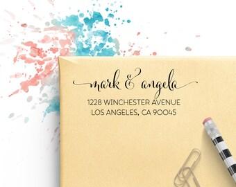 Custom Address Stamp, Self Ink Return Address Stamp, Personalized Address Stamp, Self Ink Custom Address Stamp, Flowing Pen