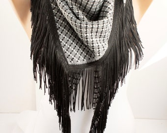 NEW Plaid  Shawl Scarf -  Tassel Winter Scarf Lace Scarf - Triangle Scaf - Plaid Scarf Christmas Gift  Women's Fashion Accessories DIDUCI