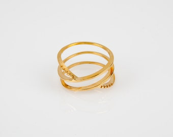 Siren- Ring- stacked bands-Womens Ring- trending- Valentines Gift