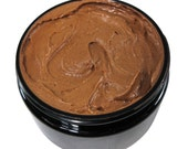 Black Cocoa Butter + Shea Whipped Hair & Body Frosting Hair Mask, Body Butter, Stretch Mark Cream, Whipped Shea Butter for Hair