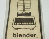 Vintage New Old Stock - Quilted Appliance Blender Cover-  Machine Washable - Brown and Beige