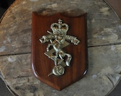 Vintage Royal Canadian Military Electrical & Mechanical Engineers Ship's Plaque