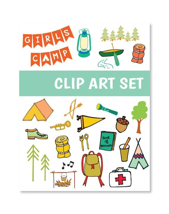 Digital Clip Art LDS Girls Camp Clip Art Set 2 Press Forward