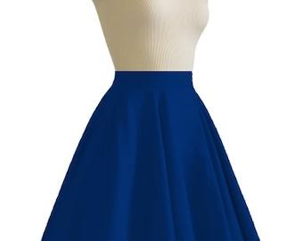 JULIETTE Navy Rockabilly Swing Rock 'n Roll Skirt//Full Circle Navy Skirt//Retro Mod 50s style Skirt//Party Skirt XXS-3X