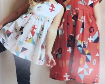Made by Rae Geranium Dress Pattern - Girls Dress Sewing Pattern Sewing Pattern Rae Hoekstra Sewing Pattern Tunic Pattern Kids Sewing Pattern