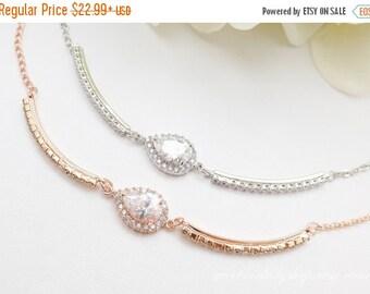 SALE Bridesmaid Jewelry Gift Set, Personalized Bridesmaid Gifts, Mother of Bride Groom Gift, Bridesmaid Bracelet, Wedding Bridal Bracelet