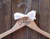 Bridal and Bridesmaid Hanger, Wedding Hangers, Personalized hanger, Wedding Gift, Bridesmaid Gift