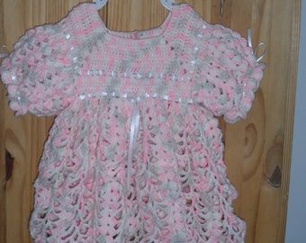 Crocheted Baby Dress 6 to 9 months