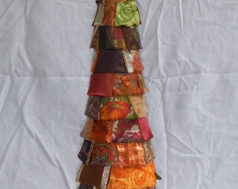 Autumn Fall Thanksgiving Squirrel Ribbon Tree
