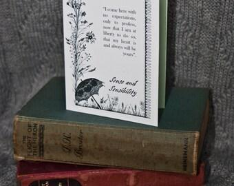 Sense and Sensibility, Jane Austen, A6 Greetings Card