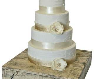 Rustic Wedding Solid Wood Cake Cupcake Stand Beach Wedding Cake Stand Candy Bar Country