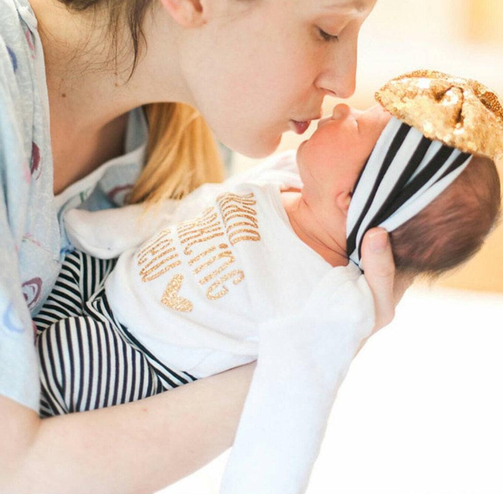 NEWBORN GIRL take home outfit newborn girl headband baby