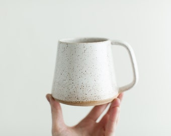 Wake Mug - Handmade pottery mug, large mug for coffee or tea