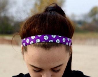 Purple Volleyball Headbands - Volleyball Team Headbands for Girls - Athletic Headband Adult Volleyball Gifts - Purple Headband
