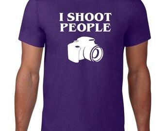 Funny TShirt, I Shoot People, Photography TShirt, Camera Tshirt, Funny T Shirt, Photographer Gift, Ringspun Cotton, Mens Plus Size