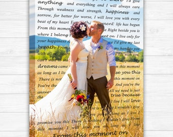 First Dance, Wedding Song Frame, Wedding Frame, First Anniversary Gift, Unique Anniversary Gift OC Canvas Studio