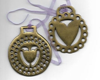 Equestrian Ornaments - Bridle Ornaments - Pair - Brass