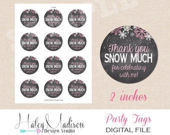 Winter Wonderland Thank you Tags, Favor Tags, DIGITAL FILE