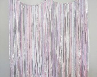 Ribbon Backdrop, Shabby Wedding Backdrop, Streamer Backdrop, Photobooth Backdrop
