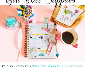 Girl Boss - Day Designer - Cute Planner Supplies